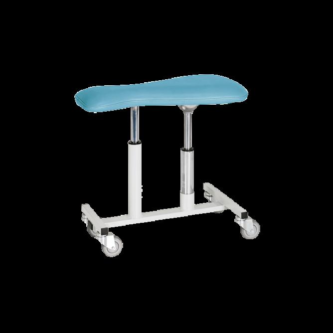 Volgkruk, zwenkwielen, hoogte instelbaar van 43-56 cm