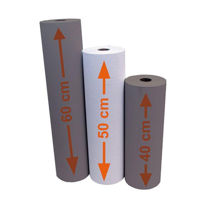 Papierrollen 50 cm x 150 m,  geperforeerd, doos van 5 stuks